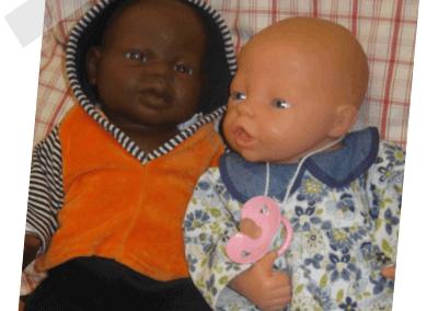Tom und Jasmin Puppe
